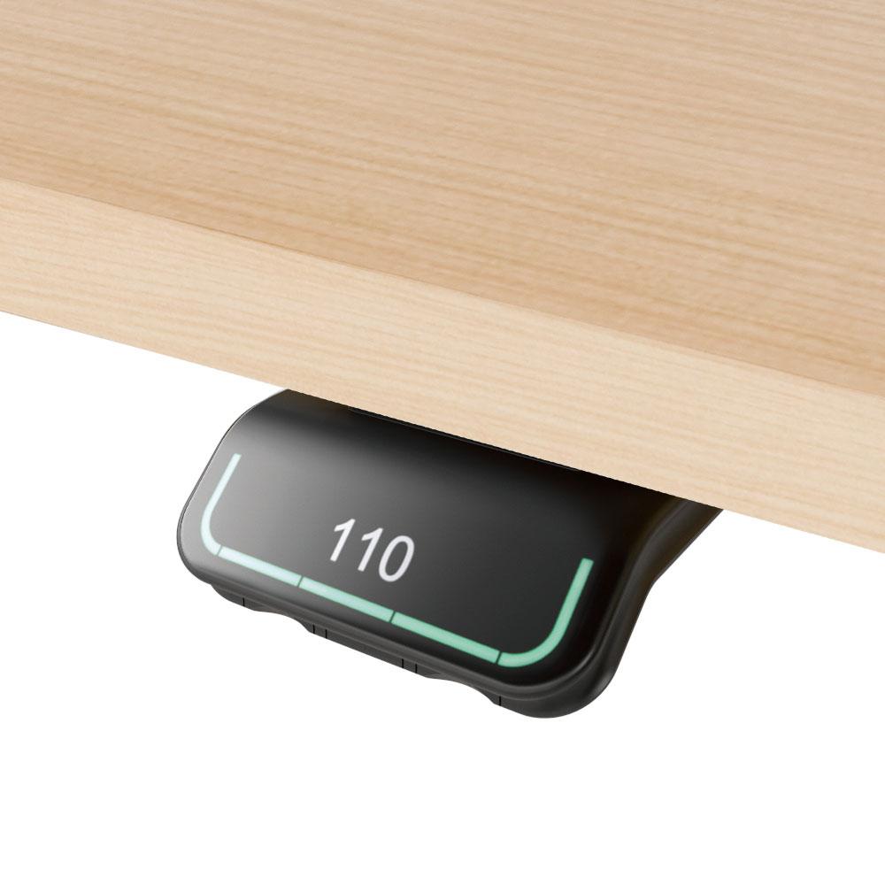 Option 2: Intuitiv bedienbarer Handschalter mit Erinnerungsfunktion über Lichtleiste, 4 Speicherpositionen, Display und Bluetooth© für Desk Control App
